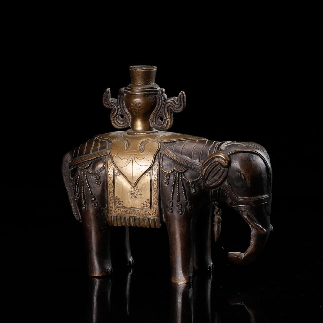 CHINESE BRONZE ELEPHANT