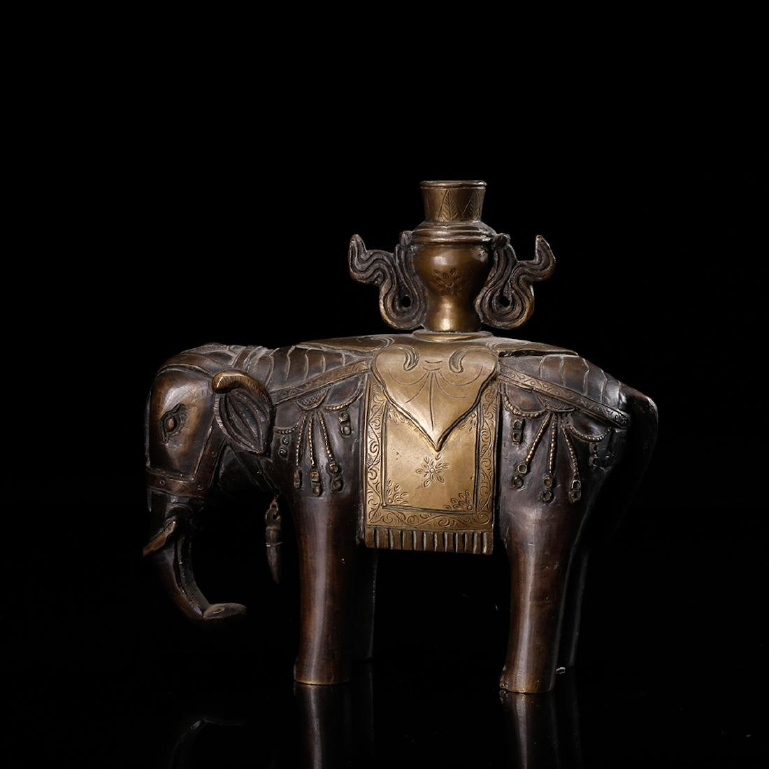 CHINESE BRONZE ELEPHANT - 2