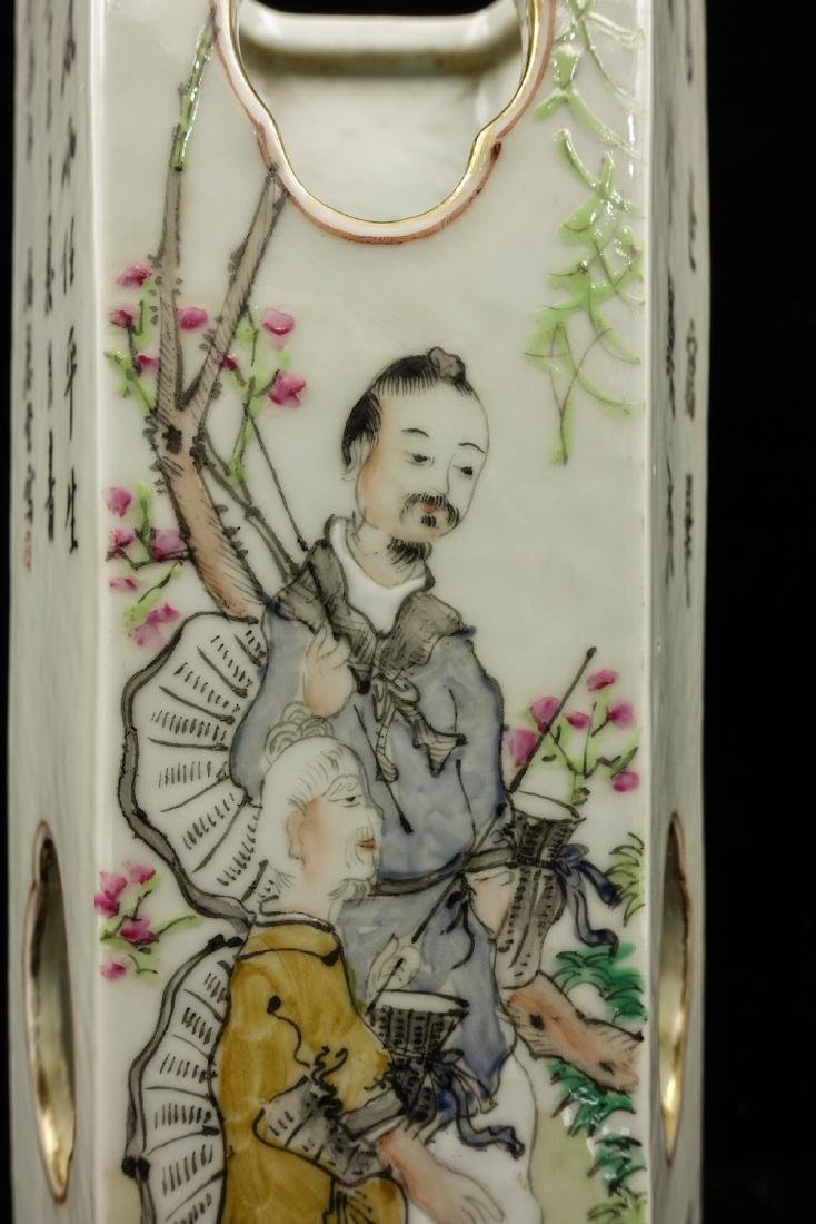 CHINESE QIANJIANG PAINTED PORCELAIN HAT STANDS, PA - 7