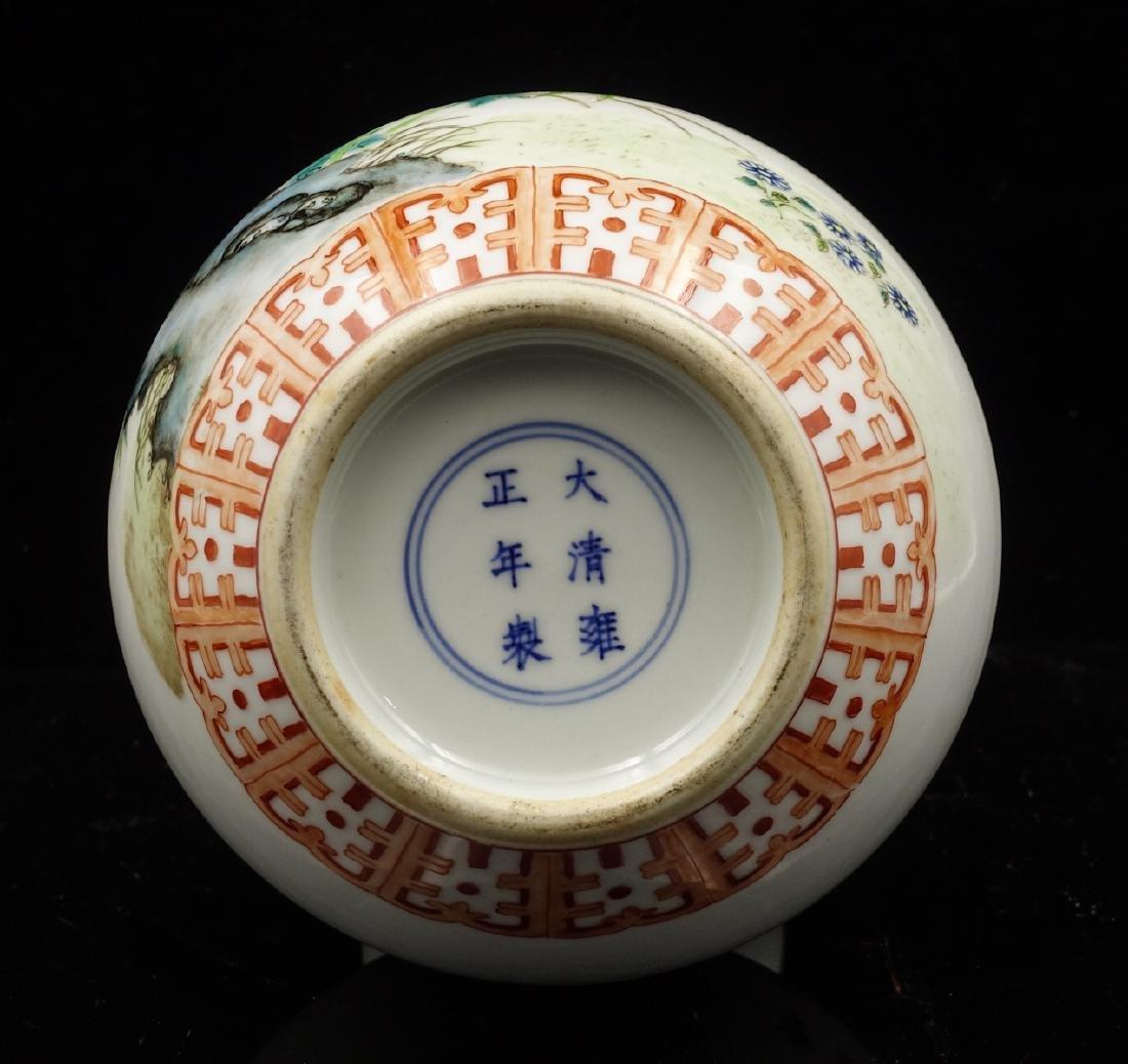 CHINESE FAMILLE ROSE PORCELAIN DOUBLE GOURD VASE - 3