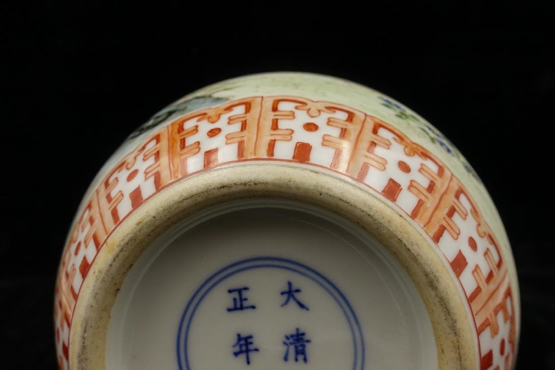 CHINESE FAMILLE ROSE PORCELAIN DOUBLE GOURD VASE - 5
