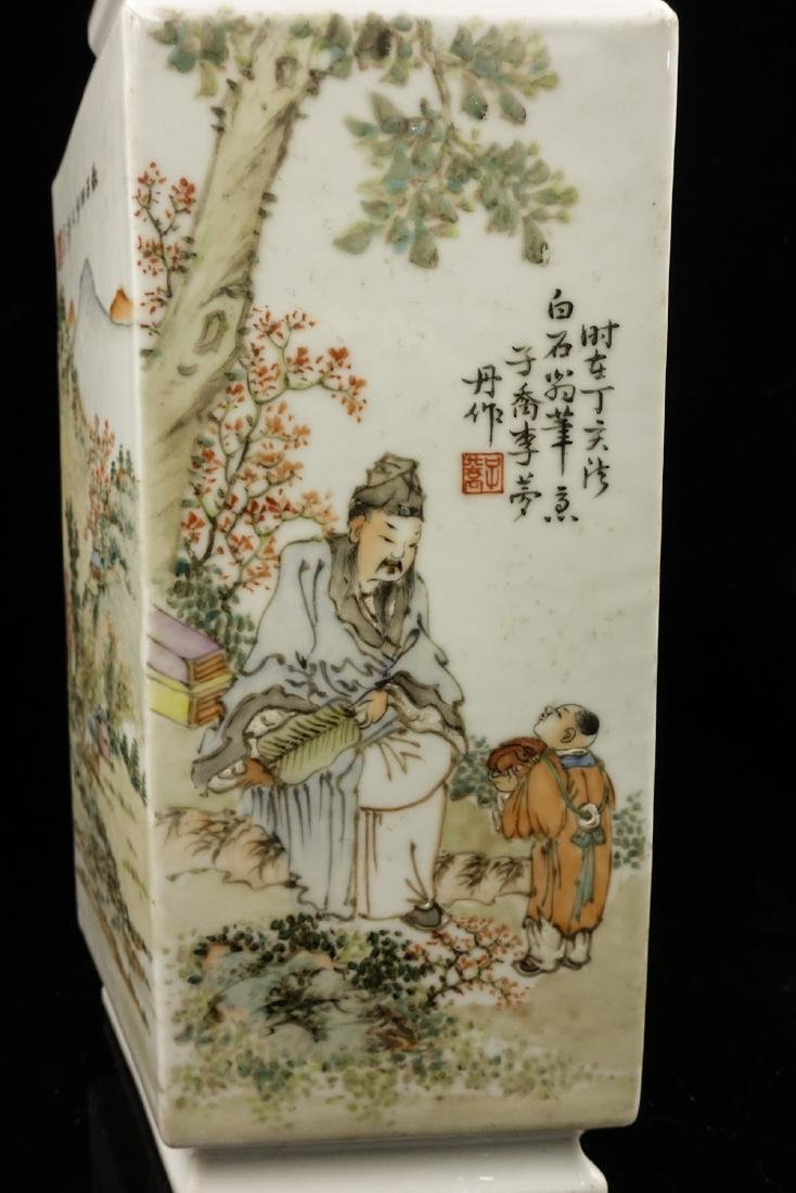 CHINESE QIANJIANG PAINTED PORCELAIN VASES, PAIR - 10