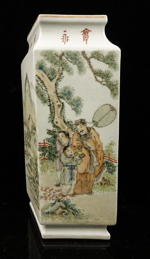 CHINESE QIANJIANG PAINTED PORCELAIN VASES, PAIR - 6