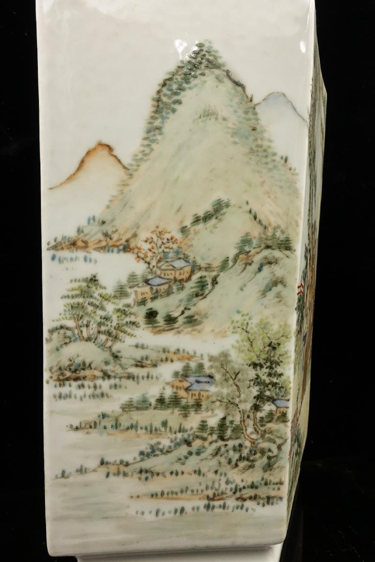CHINESE QIANJIANG PAINTED PORCELAIN VASES, PAIR - 8