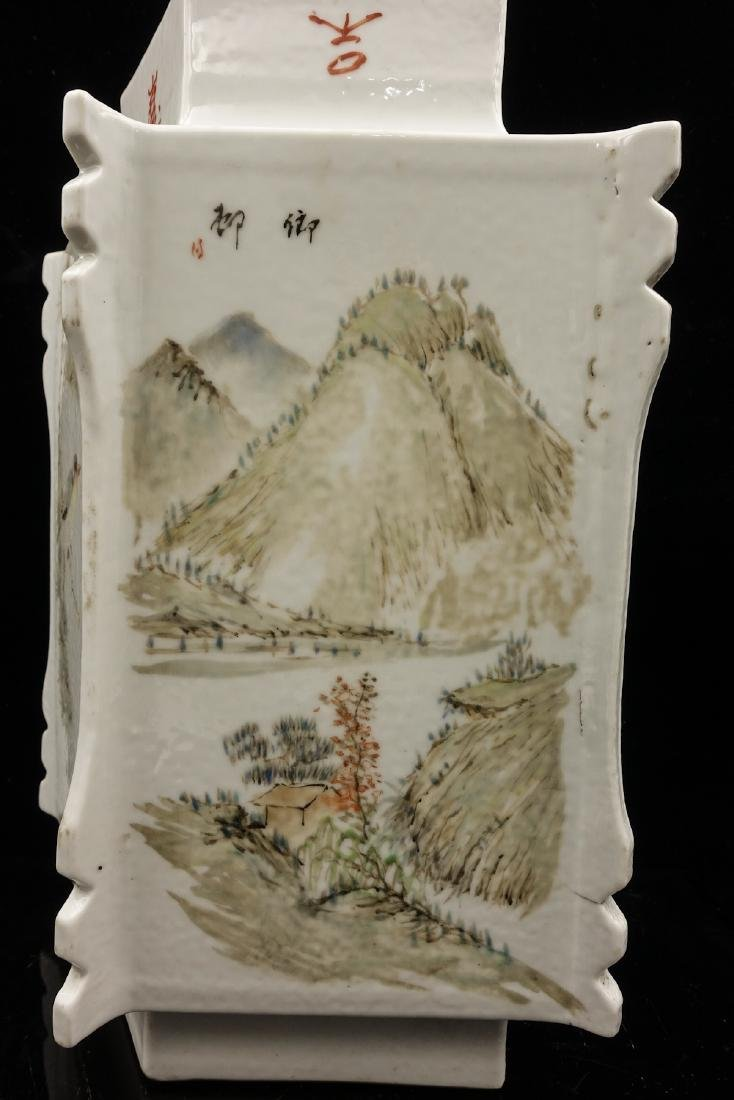 CHINESE QIANJIANG PAINTED PORCELAIN VASE - 6