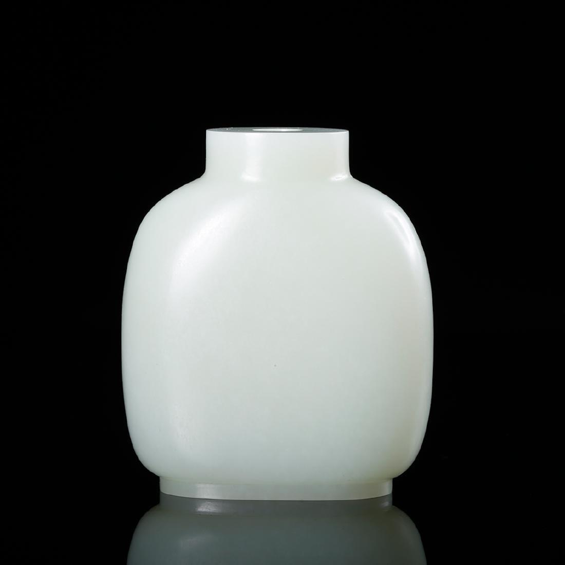 CHINESE WHITE JADE SNUFF BOTTLE - 2