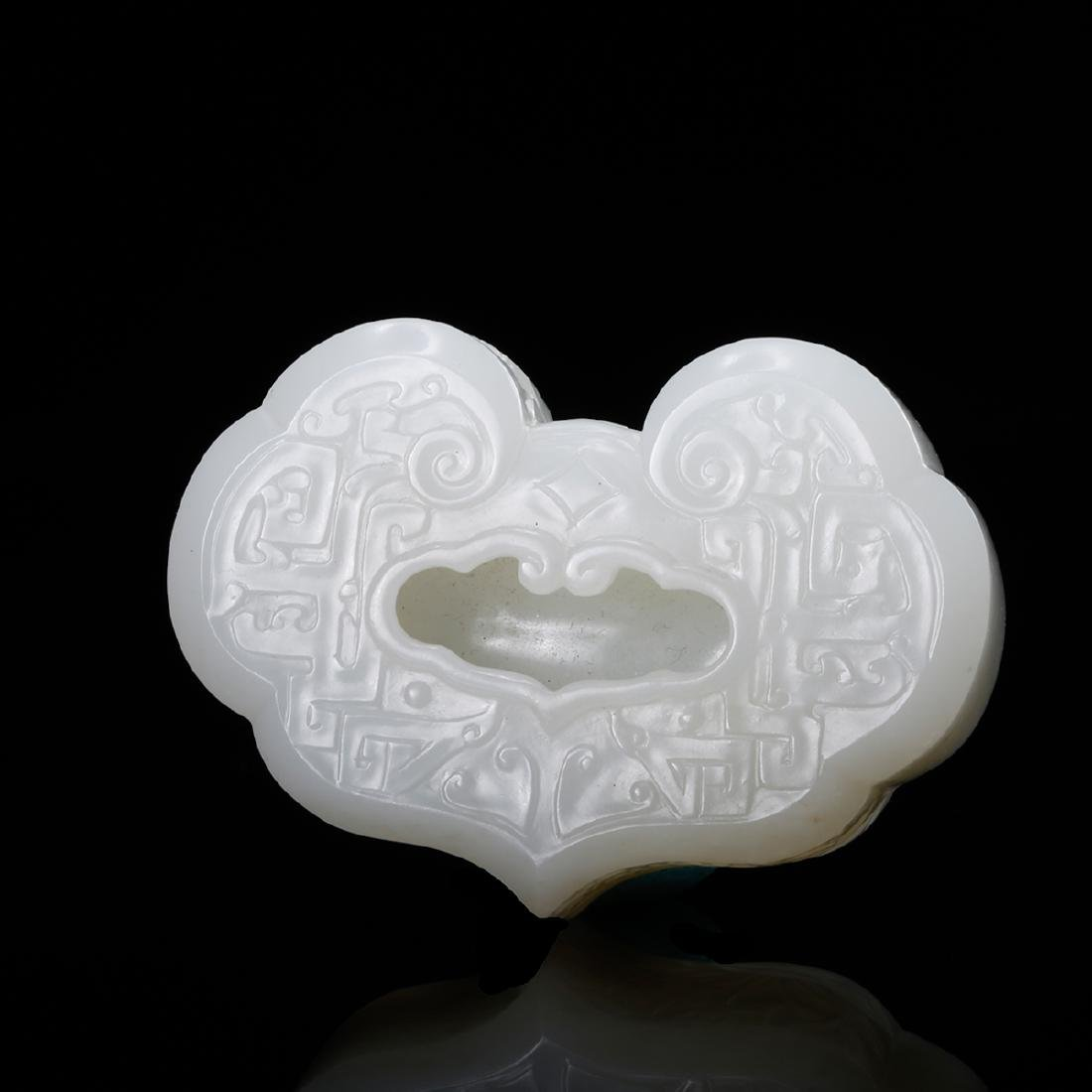 CHINESE WHITE JADE RUYI INK WELL