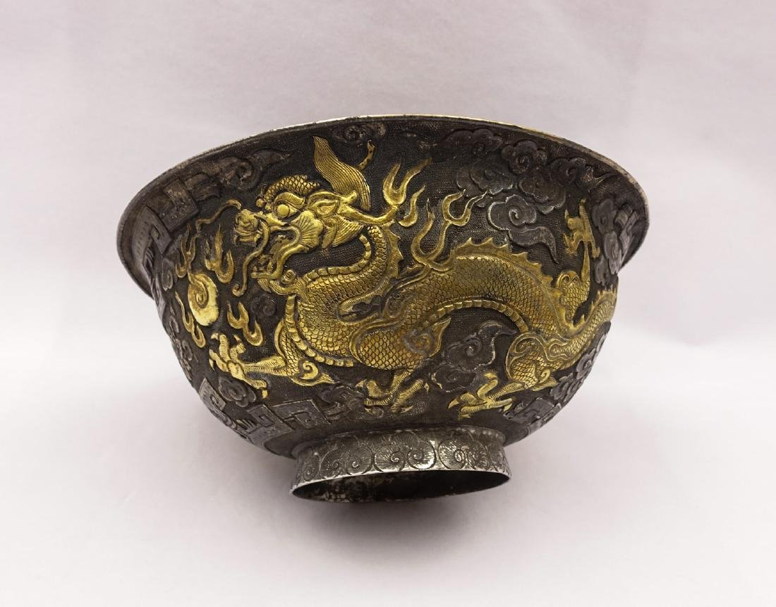 CHINESE GILT SILVER COVER BOWLS, SET OF 5 - 9