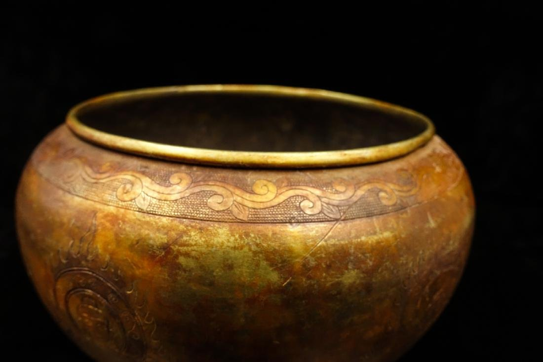 CHINESE GILT SILVER BUDDHIST BOWL - 10