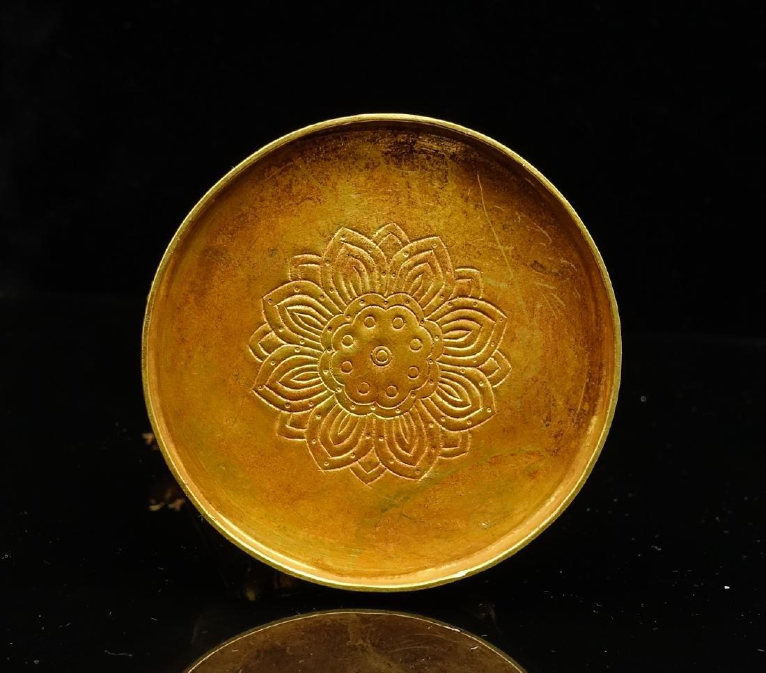 CHINESE GOLD FIGURE OF AVALOKITESVARA - 6
