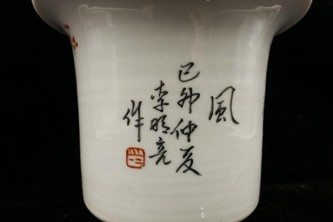 CHINESE QIANJIANG PAINTED PORCELAIN FLOWER POTS, P - 10