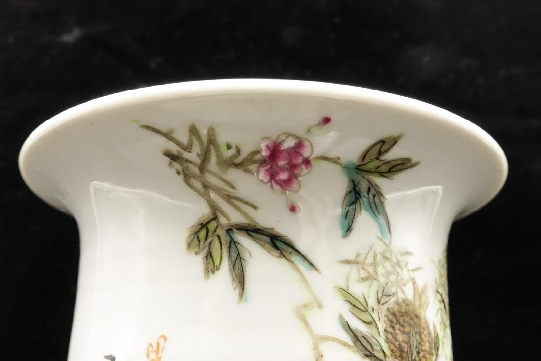 CHINESE QIANJIANG PAINTED PORCELAIN FLOWER POTS, P - 5