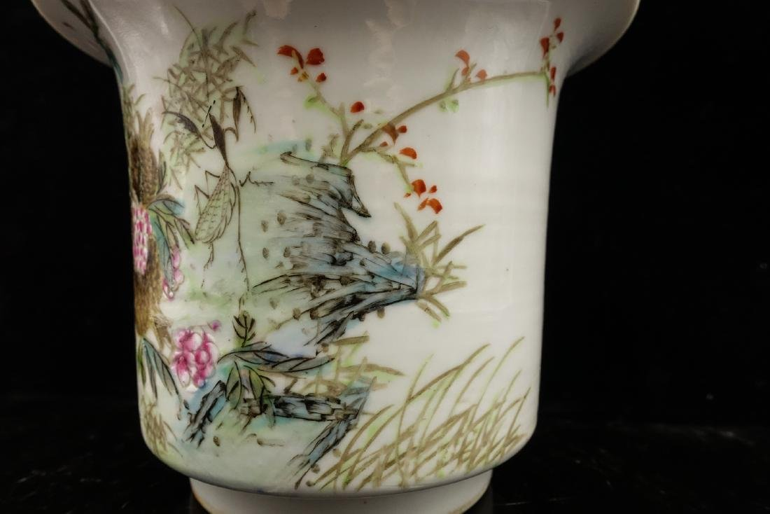 CHINESE QIANJIANG PAINTED PORCELAIN FLOWER POTS, P - 7