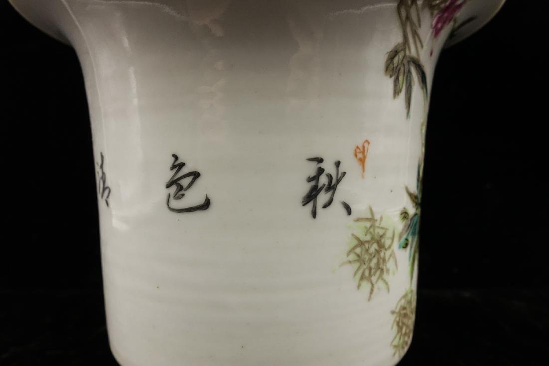 CHINESE QIANJIANG PAINTED PORCELAIN FLOWER POTS, P - 8