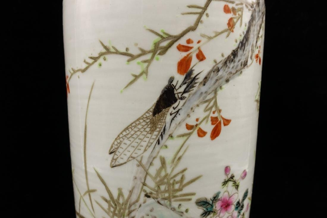 CHINESE QIANJIANG PAINTED PORCELAIN VASES, PAIR - 5