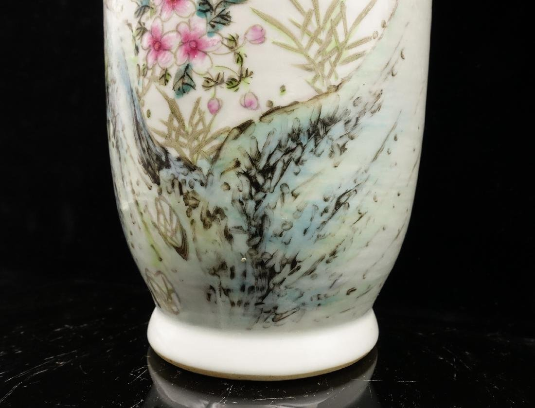 CHINESE QIANJIANG PAINTED PORCELAIN VASES, PAIR - 7