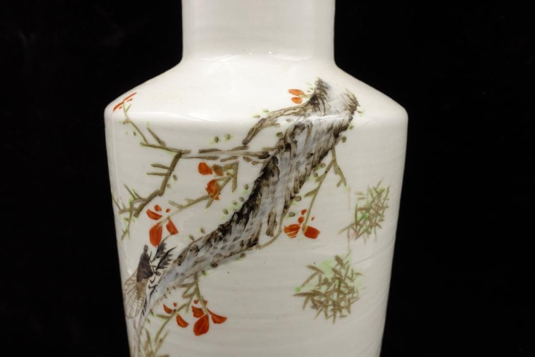 CHINESE QIANJIANG PAINTED PORCELAIN VASES, PAIR - 9
