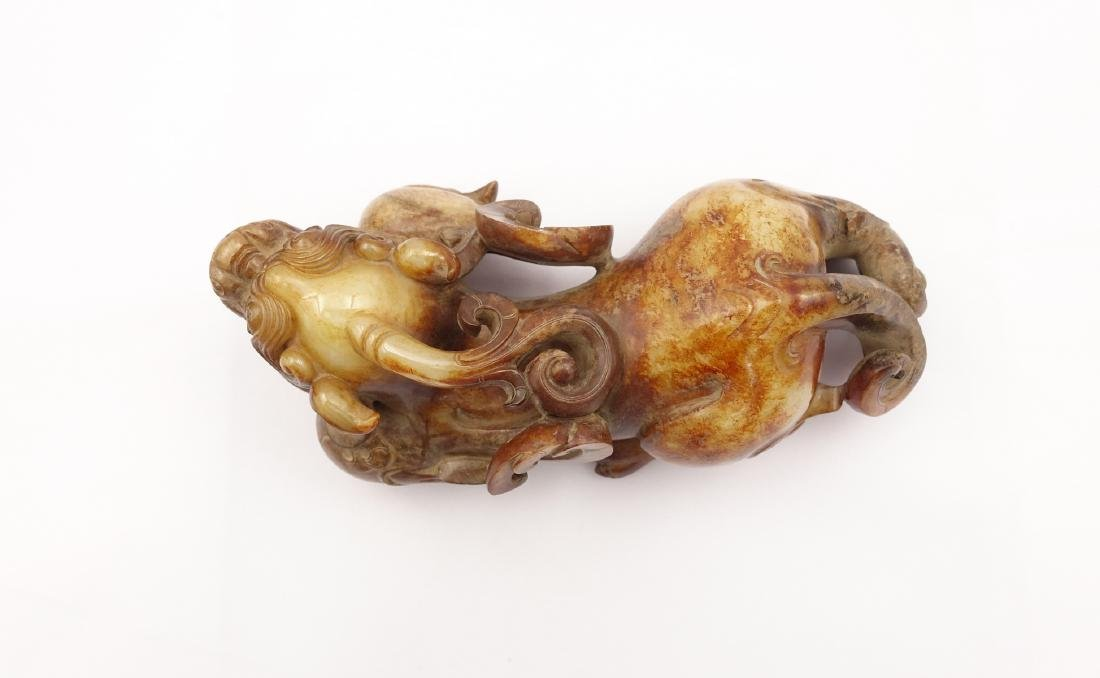 CHINESE ARCHAIC JADE FIGURE OF BEAST - 7