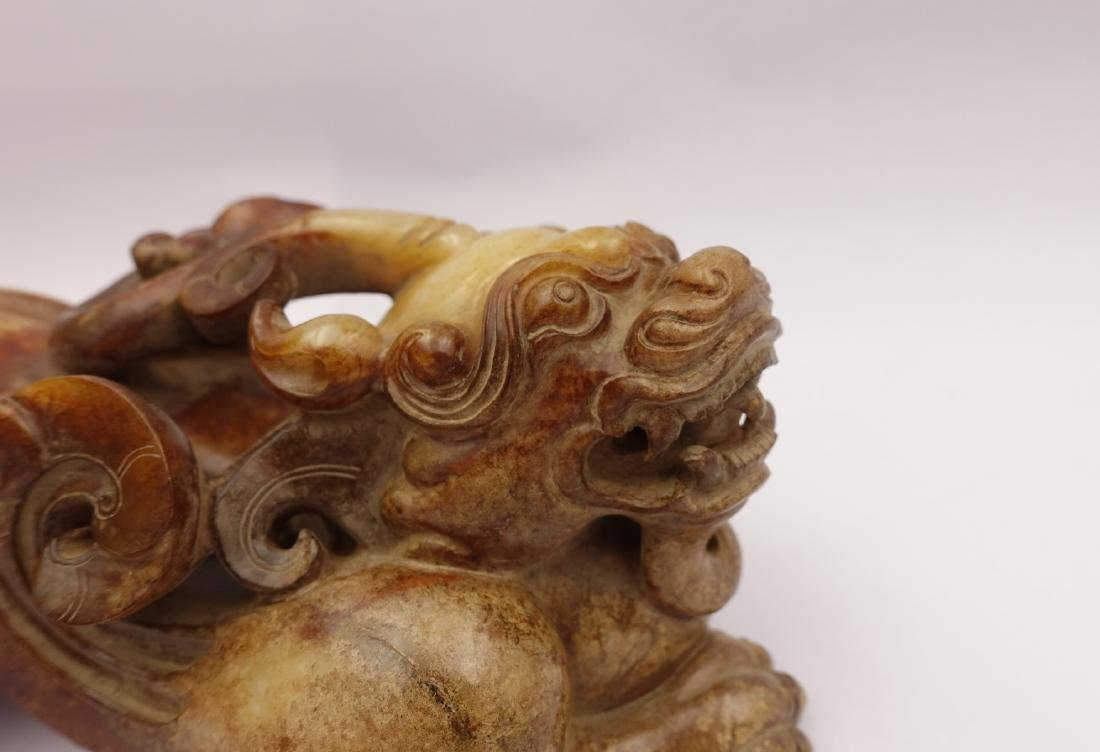CHINESE ARCHAIC JADE FIGURE OF BEAST - 8