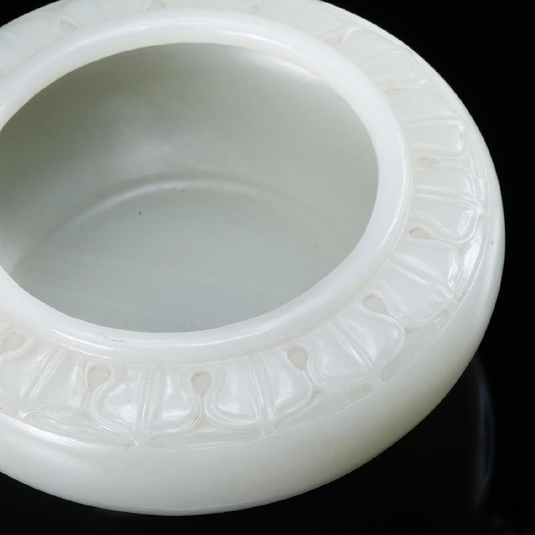 CHINESE WHITE JADE BRUSH WASHER - 5