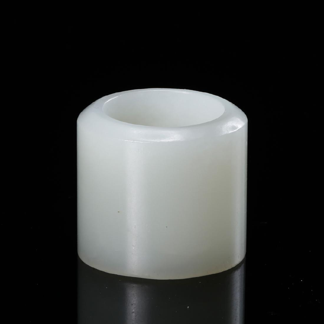 CHINESE WHITE JADE THUMB RING