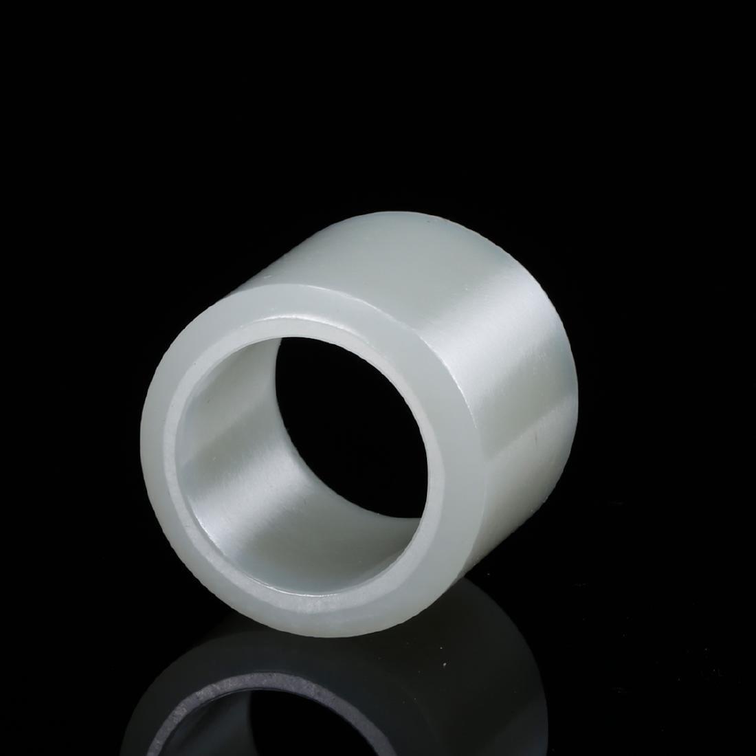 CHINESE WHITE JADE THUMB RING - 4