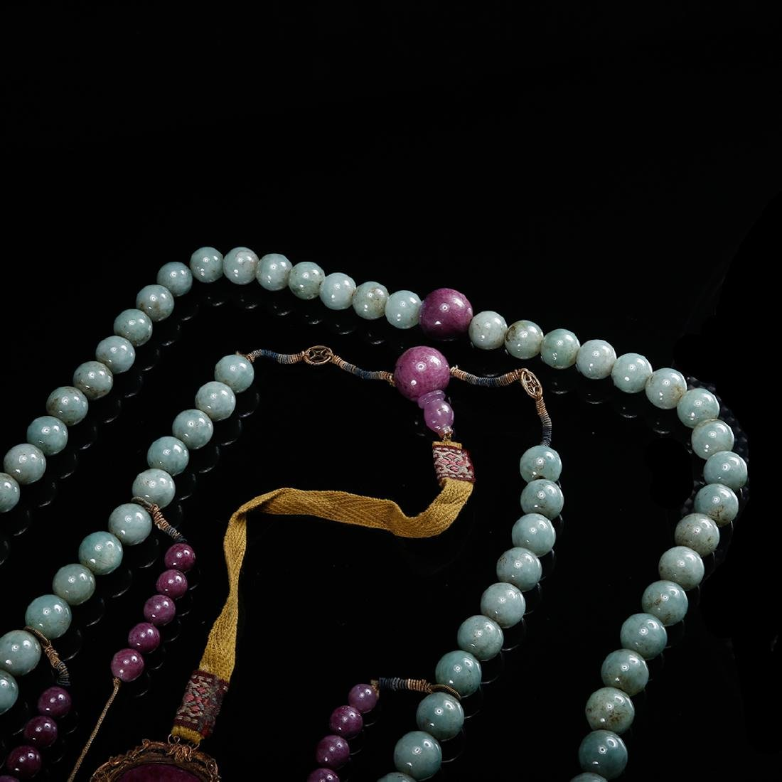 CHINESE JADEITE COURT BEADS NECKLACE, QING - 6