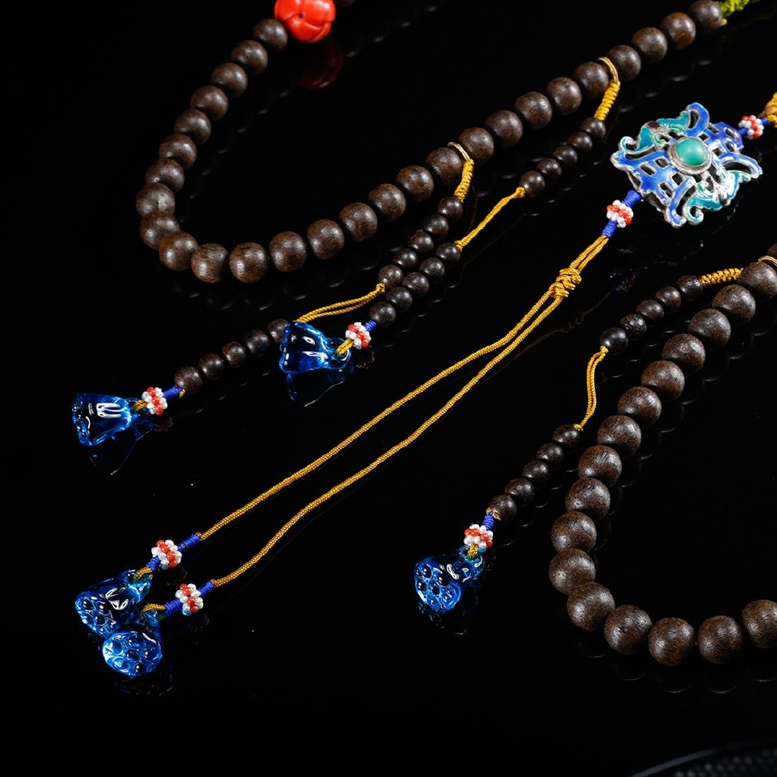 CHINESE CHENXIANG COURT BEADS NECKLACE, QING - 6