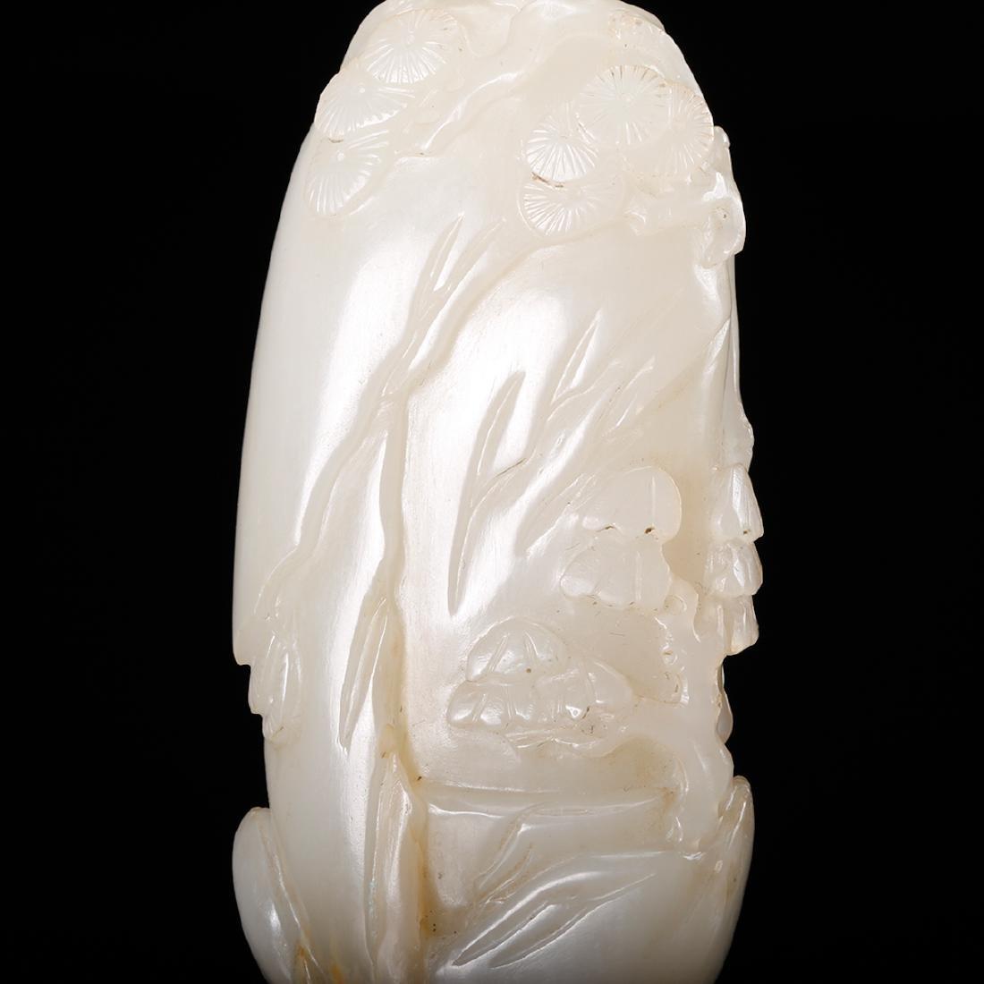 CHINESE WHITE JADE CARVED FIGURINE - 8