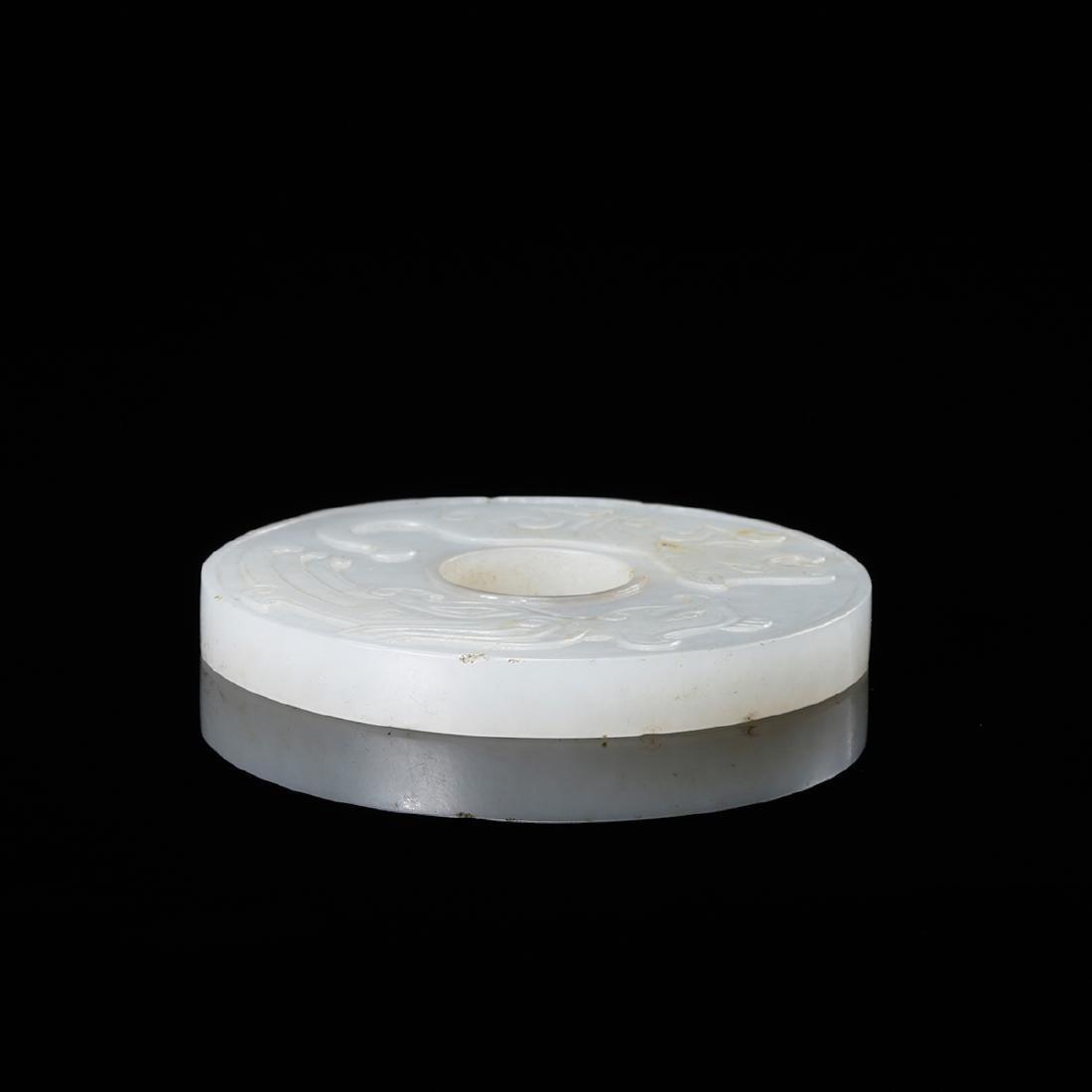 CHINESE WHITE JADE BI DISK - 3