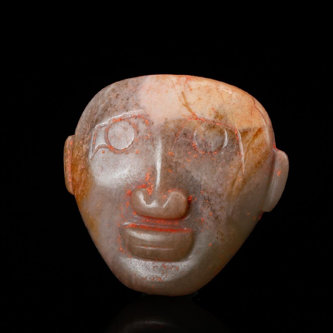 CHINESE ARCHAIC JADE FACE MASK