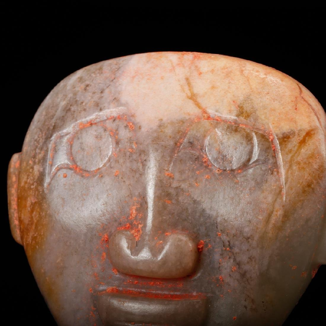 CHINESE ARCHAIC JADE FACE MASK - 7