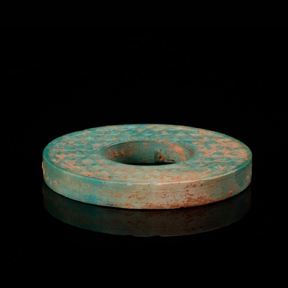 CHINESE TURQUOISE BI DISK - 3