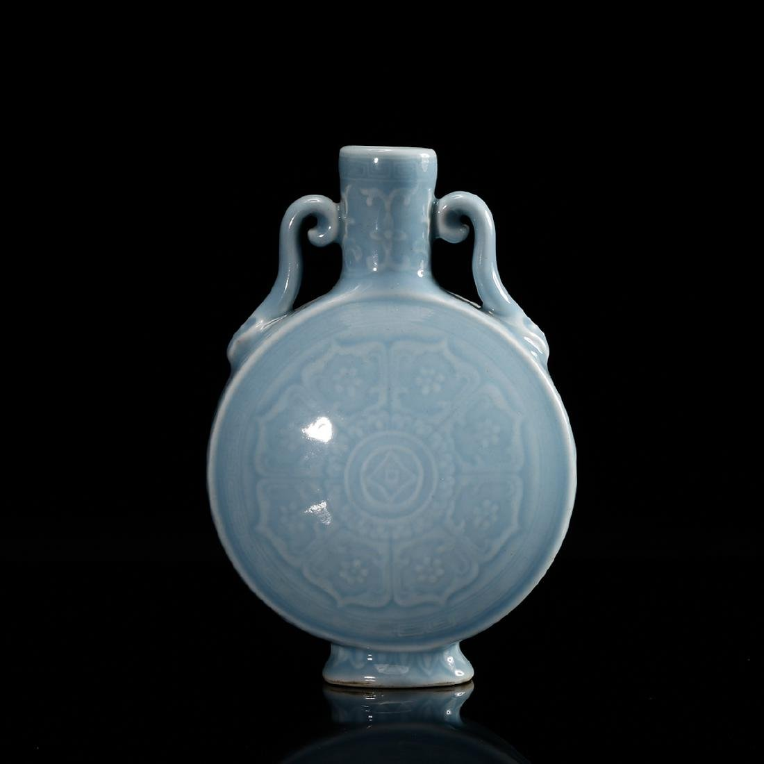 CHINESE CLAIR DE LUNE MOON FLASK VASE - 3
