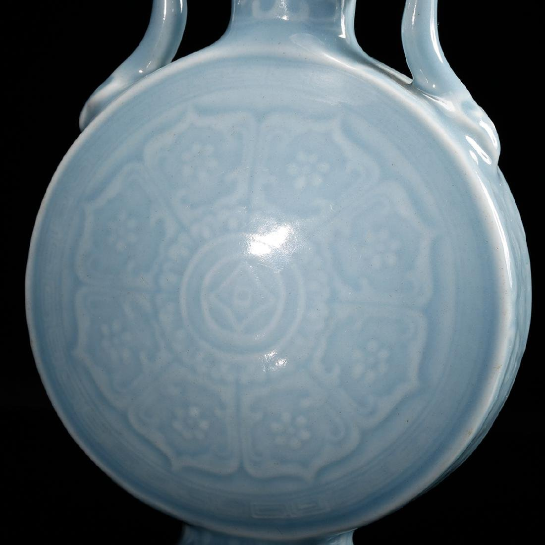 CHINESE CLAIR DE LUNE MOON FLASK VASE - 9