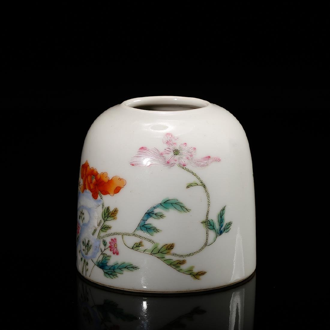 CHINESE FAMILLE ROSE WATER COUPE - 4