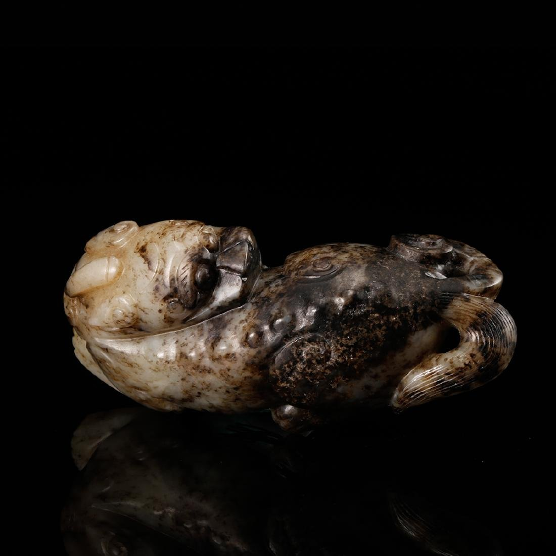 CHINESE JADE CARVED BEAST - 6