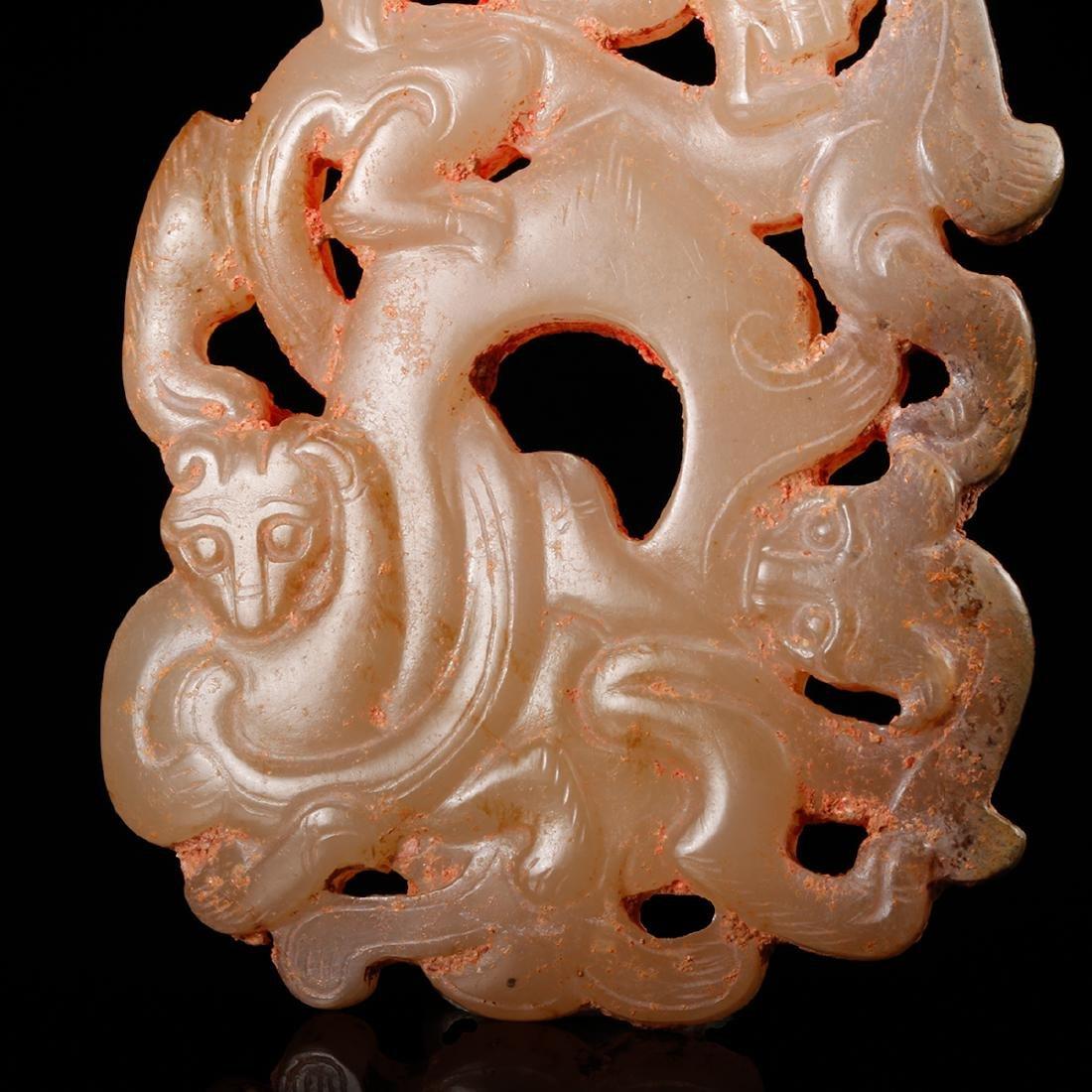 CHINESE ARCHAIC JADE PENDANT - 7