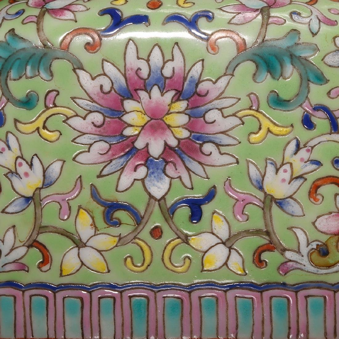 CHINESE FAMILLE ROSE DOUBLE VASE - 7