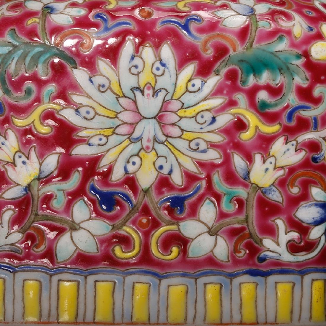 CHINESE FAMILLE ROSE DOUBLE VASE - 8