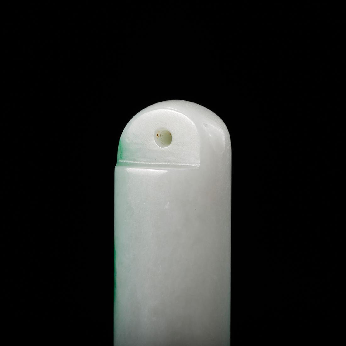 CHINESE QING DYNASTY JADEITE FEATHER HOLDER - 7