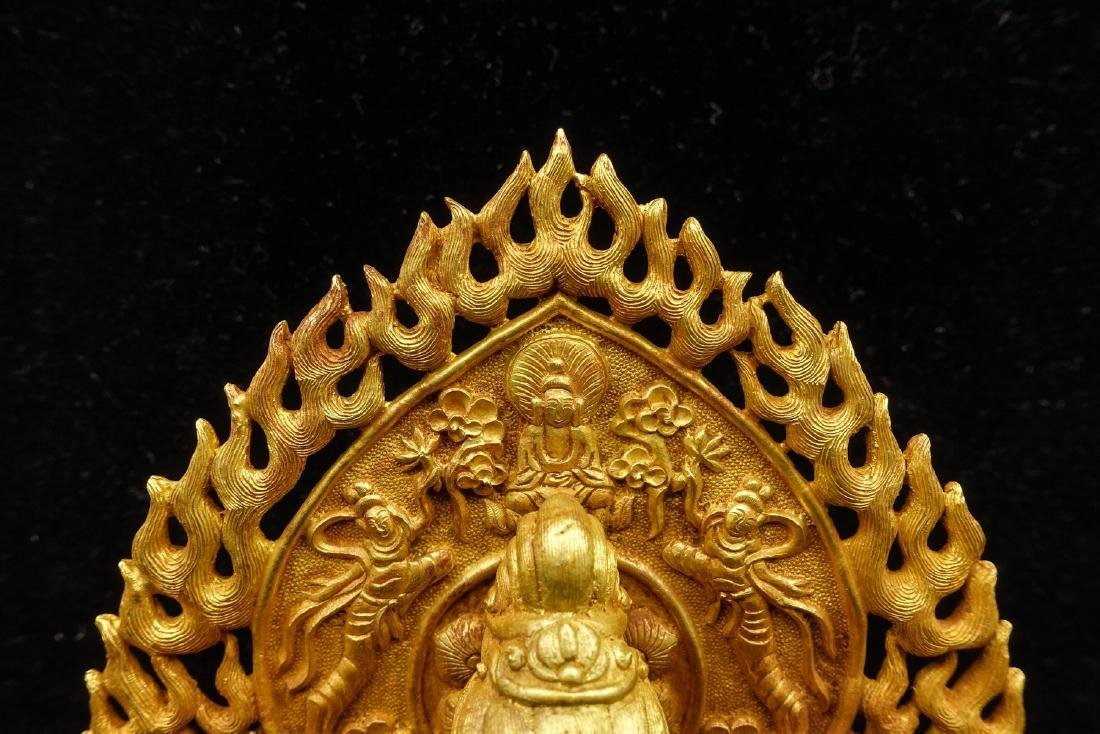 CHINESE GOLD FIGURE OF AVALOKITESVARA - 7