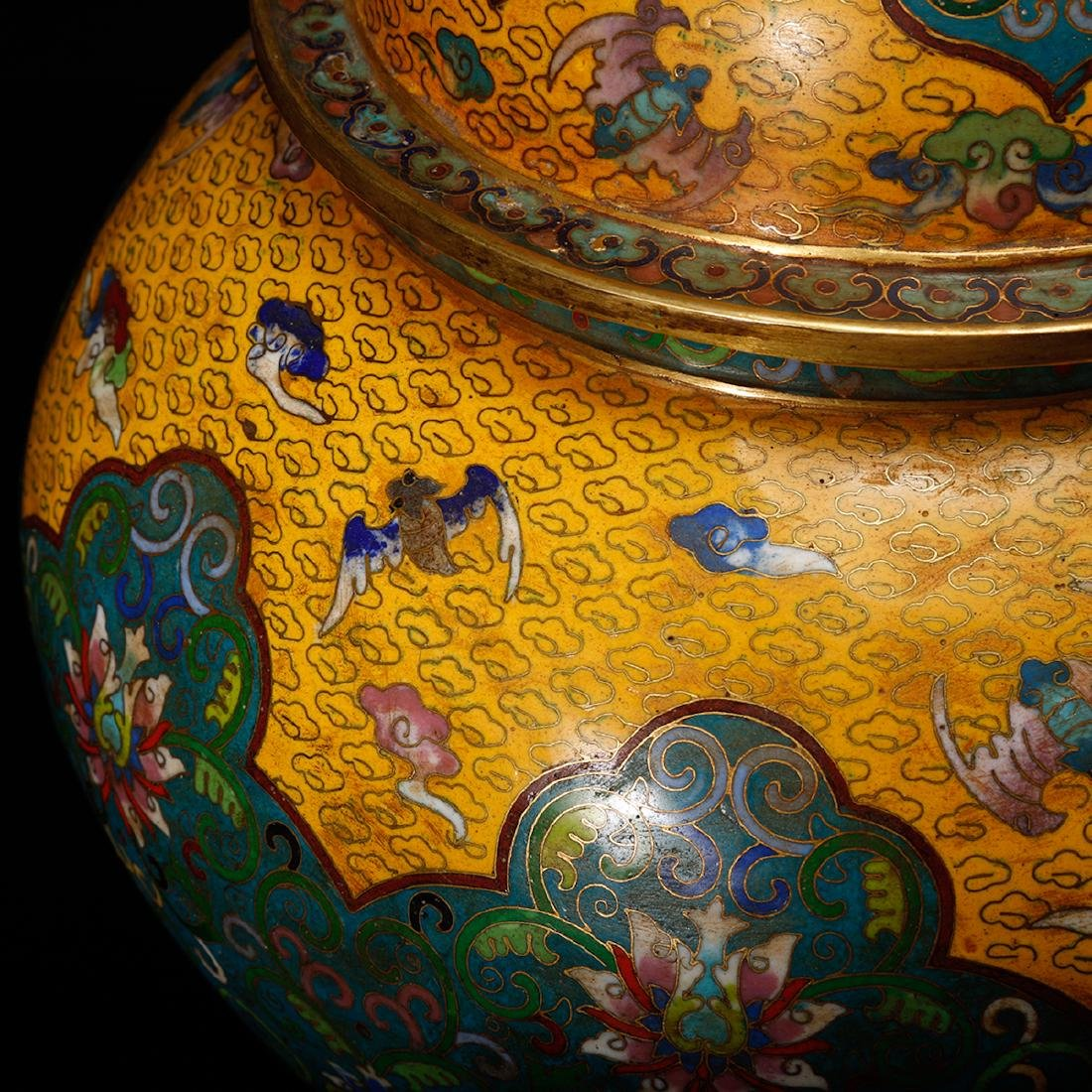 CHINESE CLOISONNE GINGER JAR - 10