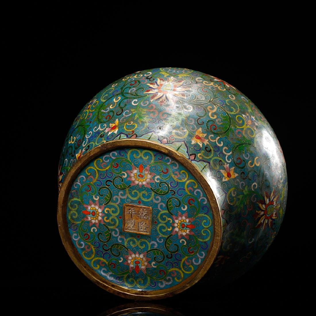 CHINESE CLOISONNE GINGER JAR - 5