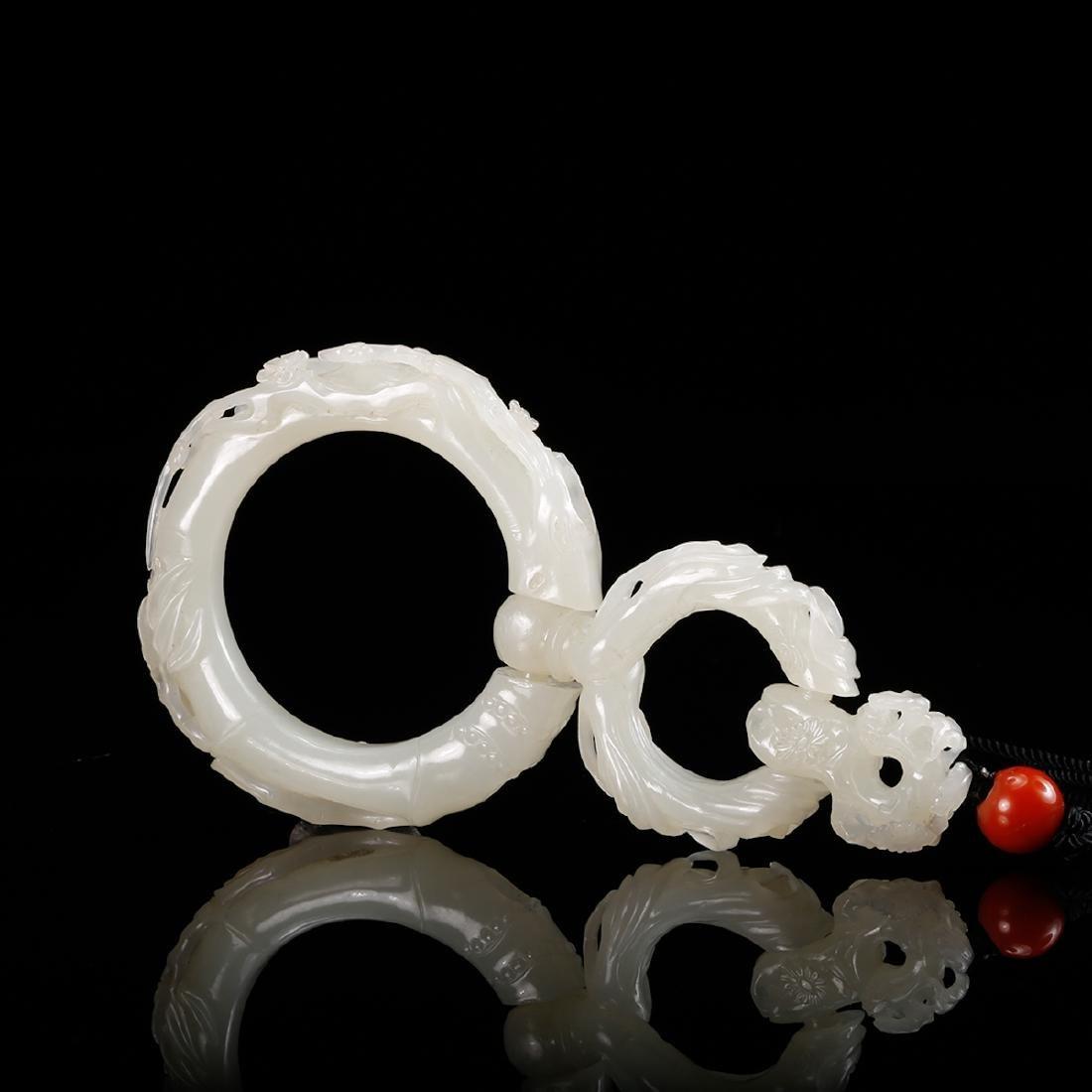 CHINESE WHITE JADE PENDANT - 8