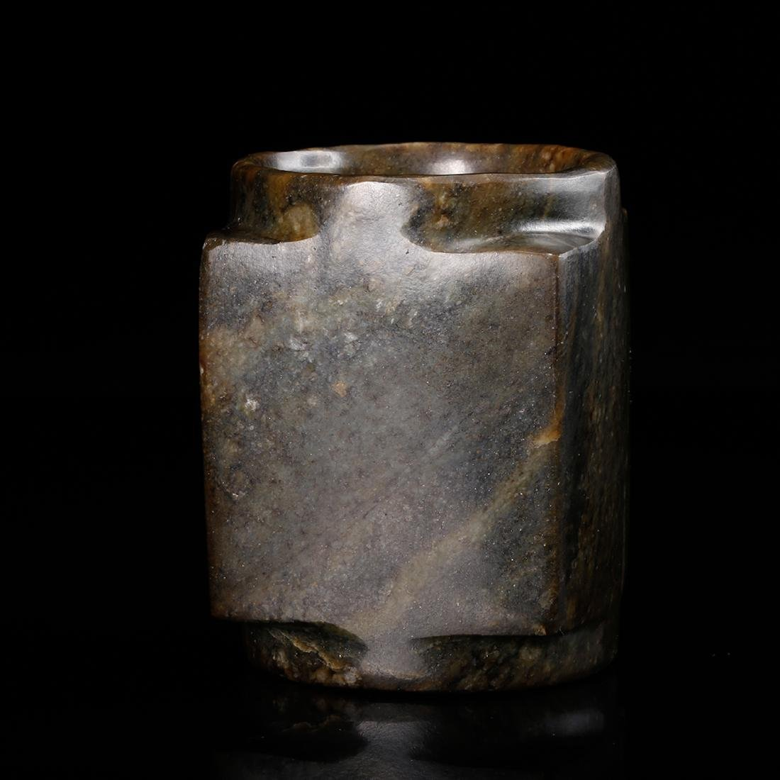 CHINESE ARCHAIC JADE CONG - 3