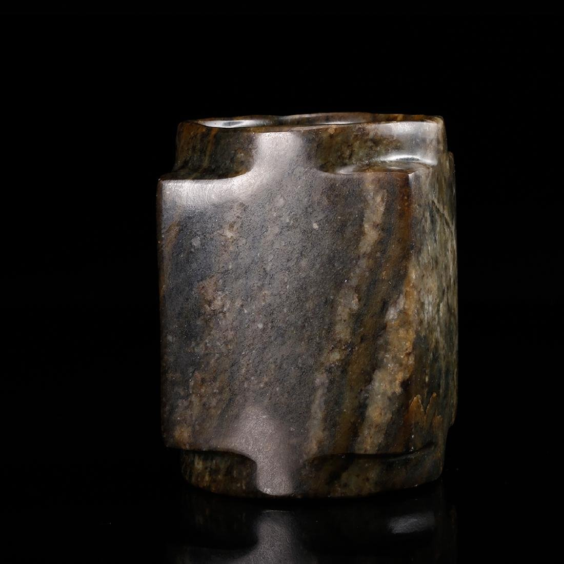 CHINESE ARCHAIC JADE CONG - 4