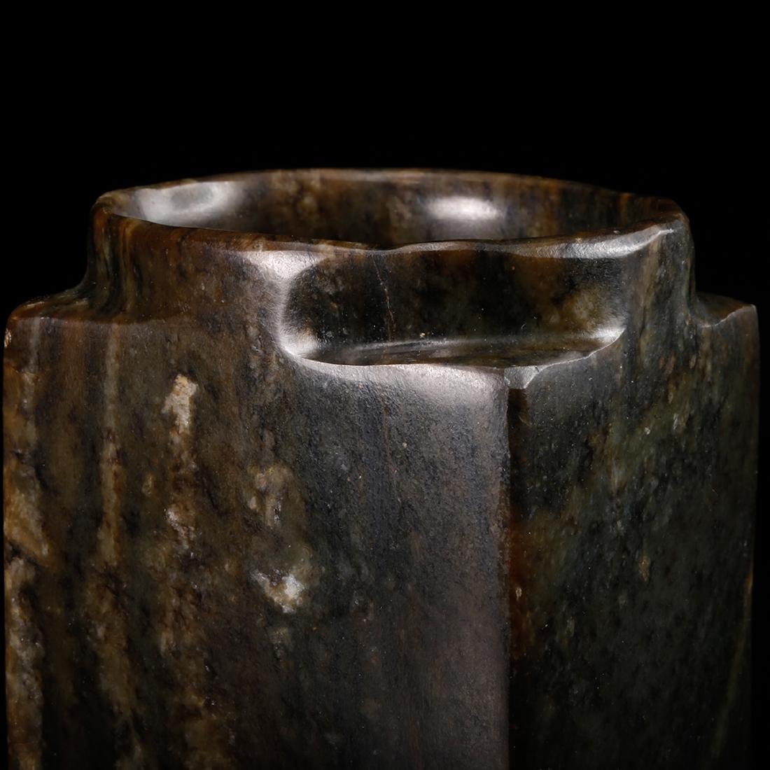 CHINESE ARCHAIC JADE CONG - 7