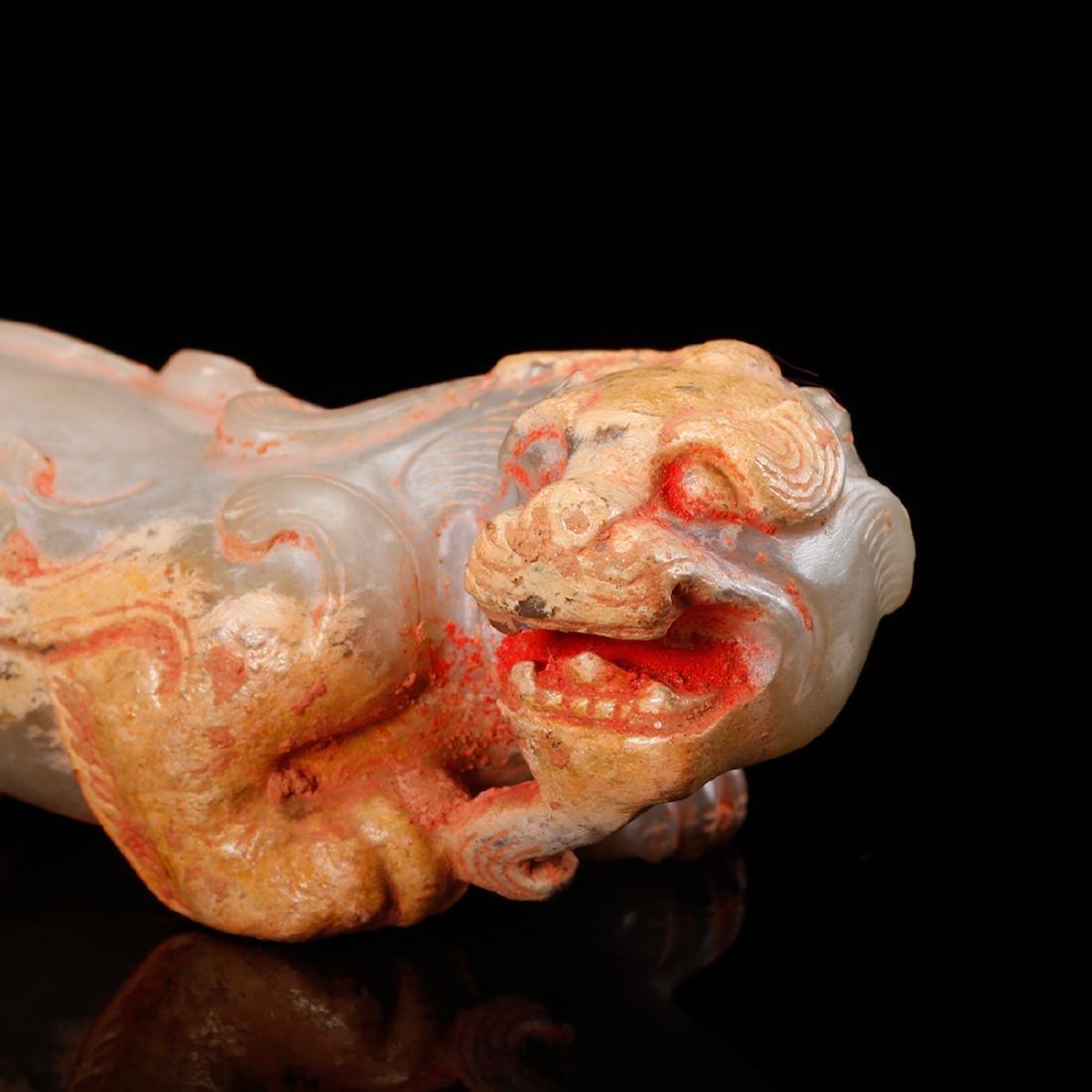 CHINESE ARCHAIC JADE BEAST - 8