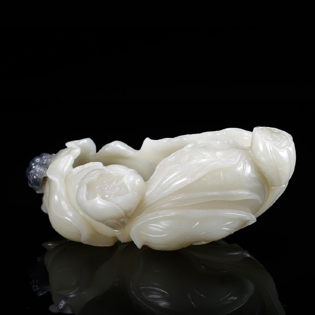 CHINESE WHITE JADE BRUSH WASHER - 2